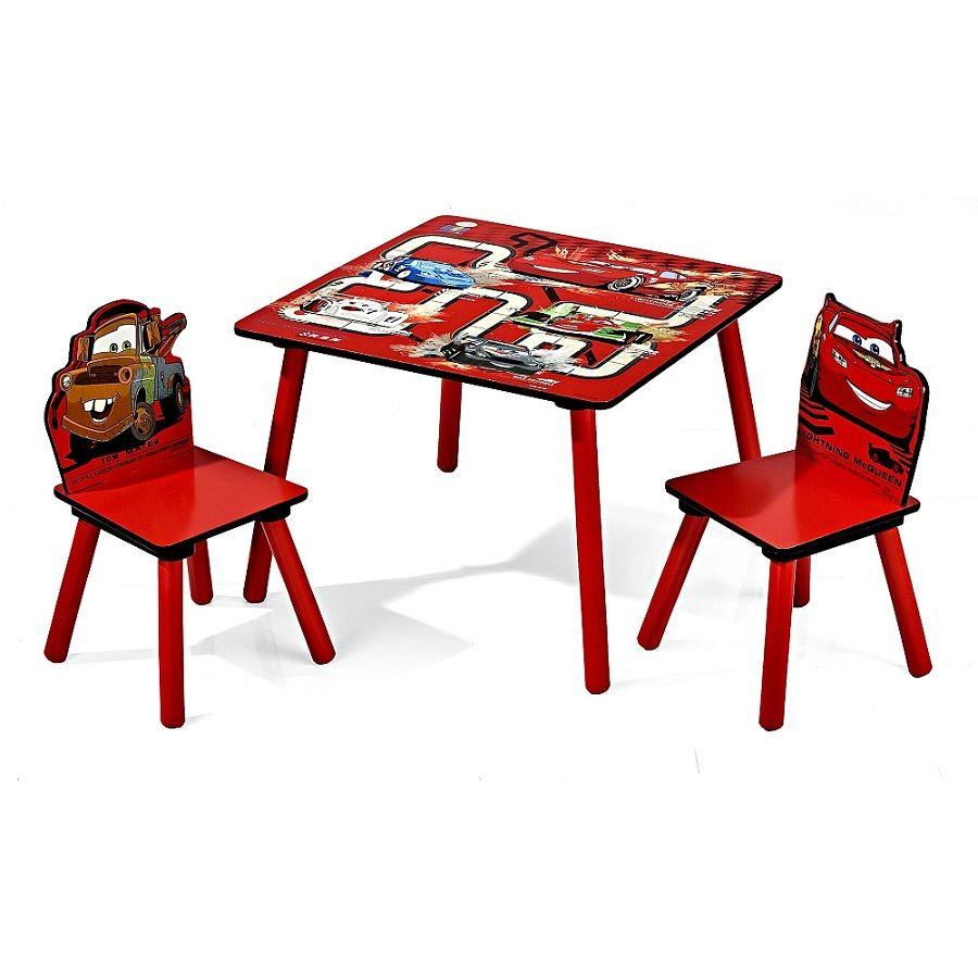 Venta Mesa y dos sillas infantiles Cars Disney de madera. TT89324CR ...
