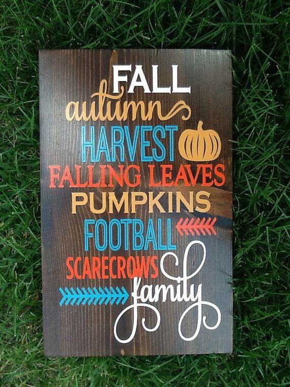 Fall Wood Sign I Autumn Decor I Scarecrows I Football I