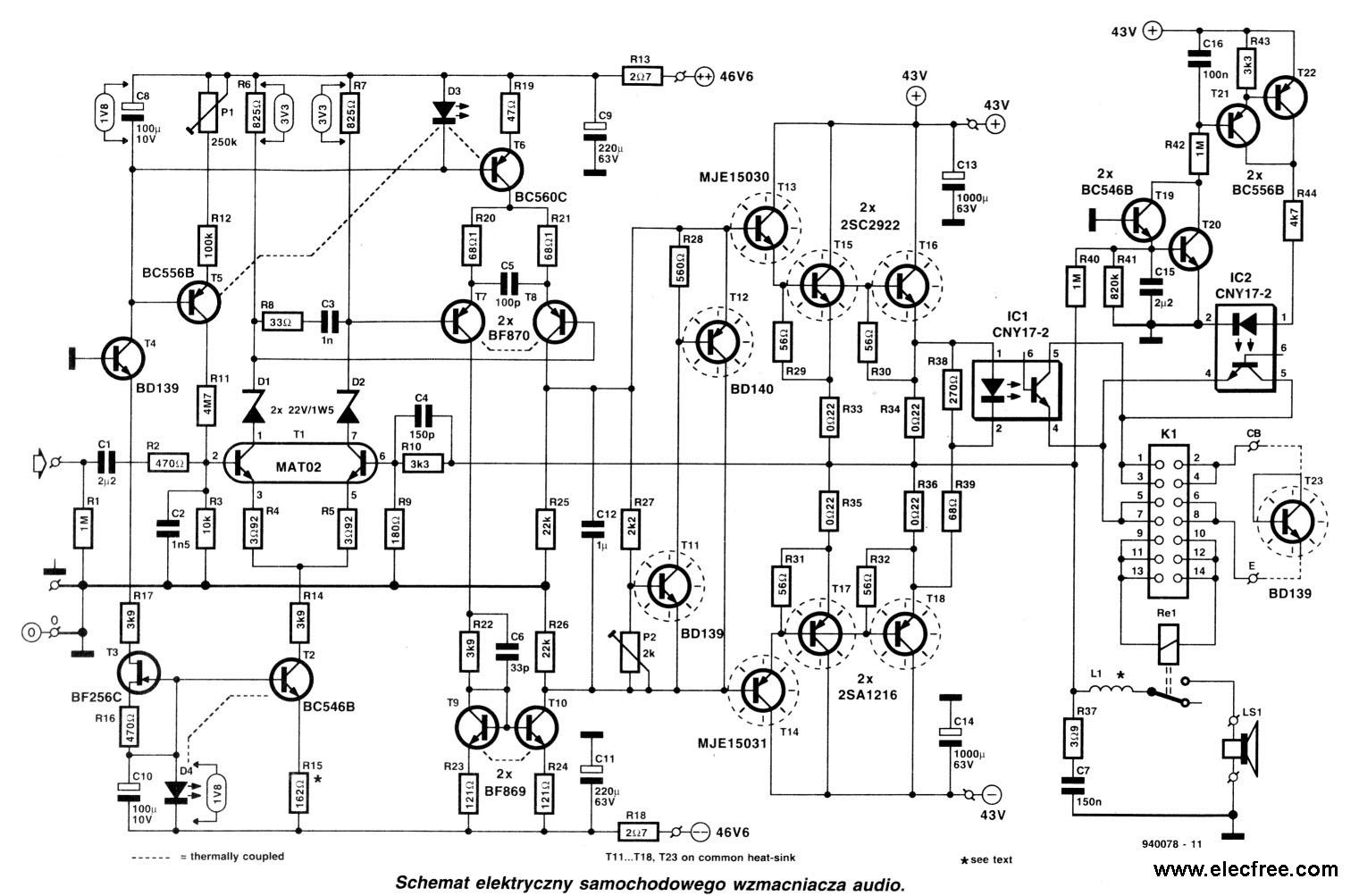 Pin By Sanane On Soft Start T Diy Amplifier Circuit Diagram Build A Voltage Controlled Oscillator Nonstopfree 2 Circuits Of High Power Transistor 200 Watts And 300 Rms Electric
