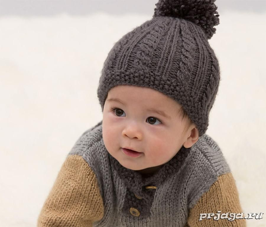 шапочка для мальчика спицами шапки шарфы снуды шапочка