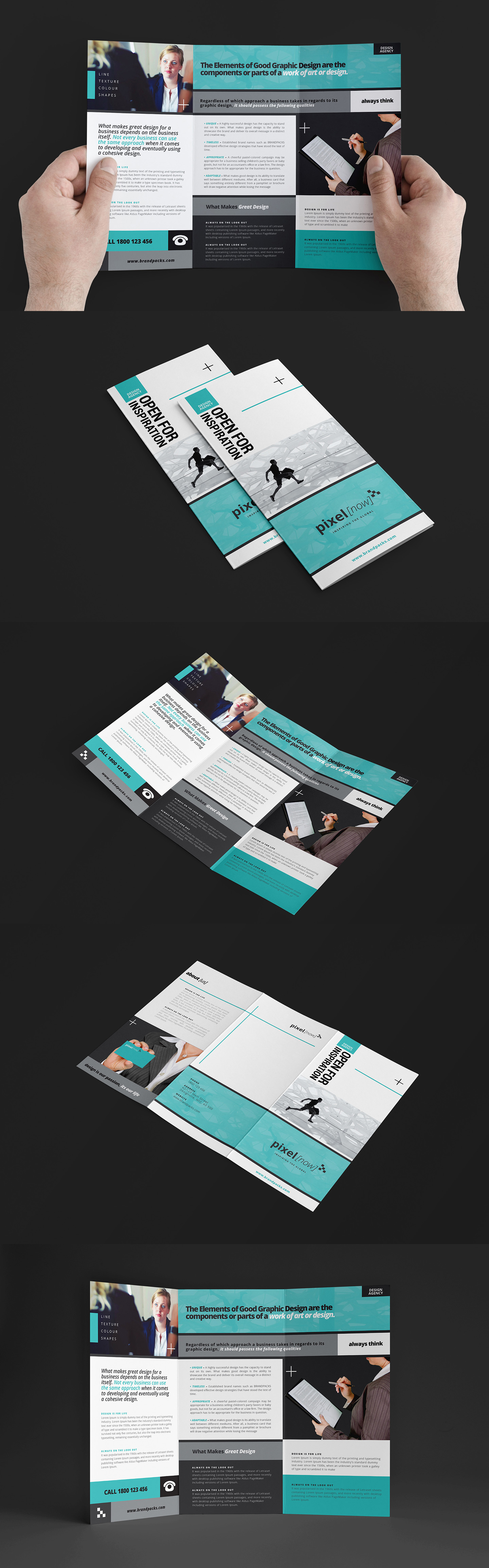 Free Business Trifold Brochure Template For Photoshop Illustrator - Photoshop tri fold brochure template free