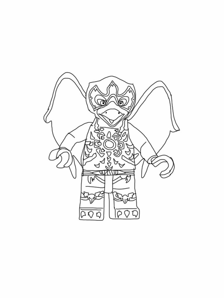 Coloring pages lego chima - Lego Chima Coloring Page Razar Raven