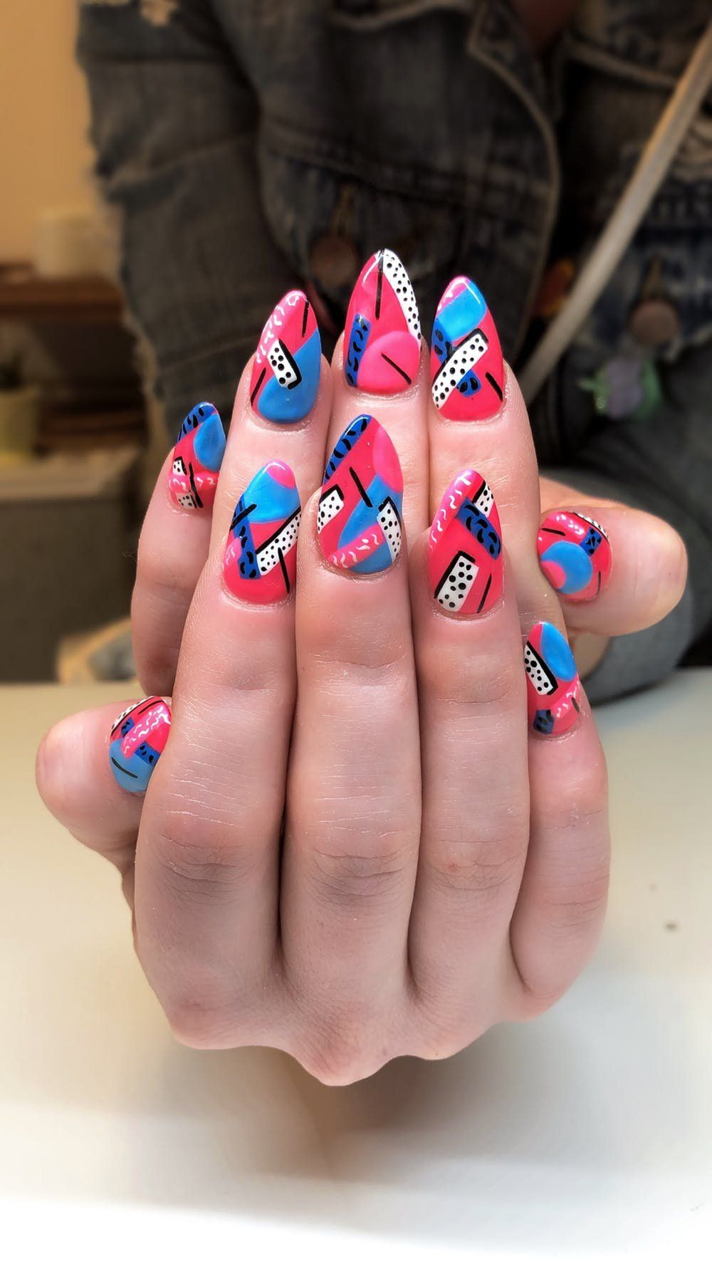 12 80s Nail Art Ideas To Round Out Your End Of Summer Style 80s Nails Fun Summer Nails Nail Art Summer