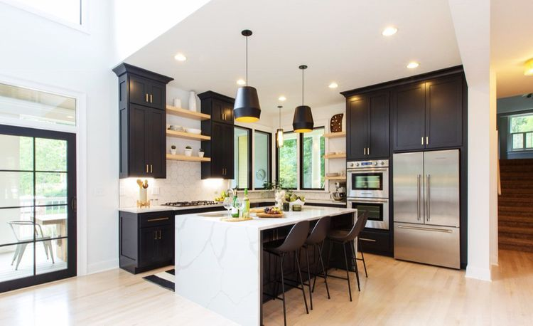 The Property Brothers Reveal One Outdated Home Feature You Can T Always Ditch Property Brothers Kitchen Black Kitchens Home