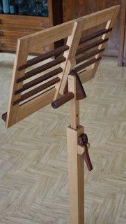 Marvelous Notenst nder aus Eiche und Mahagoni h henverstellbar Holzprojekt