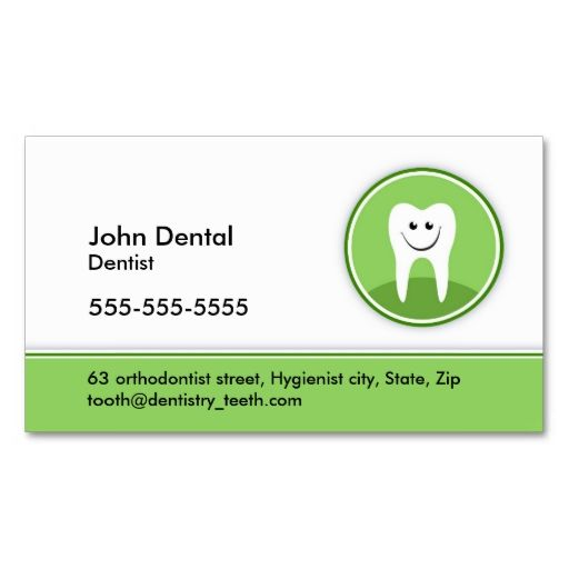 Dentist And Dental Business Or Profile Card Zazzle Com Dental Business Cards Dental Business Dentist