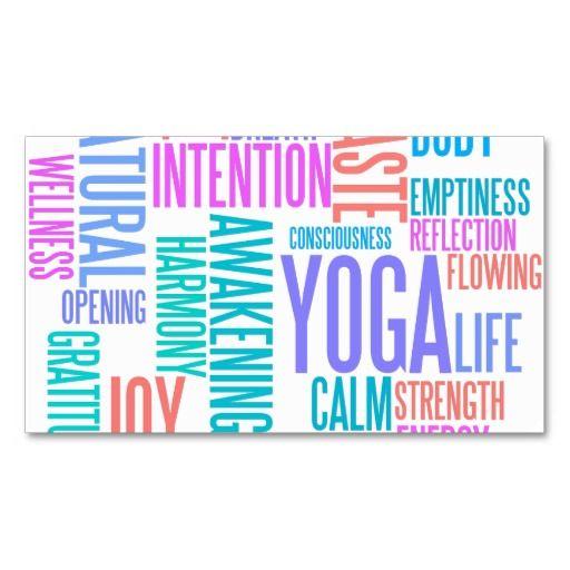 The joy of yoga elegant pastel colored word cloud business card the joy of yoga elegant pastel colored word cloud business card template reheart Choice Image