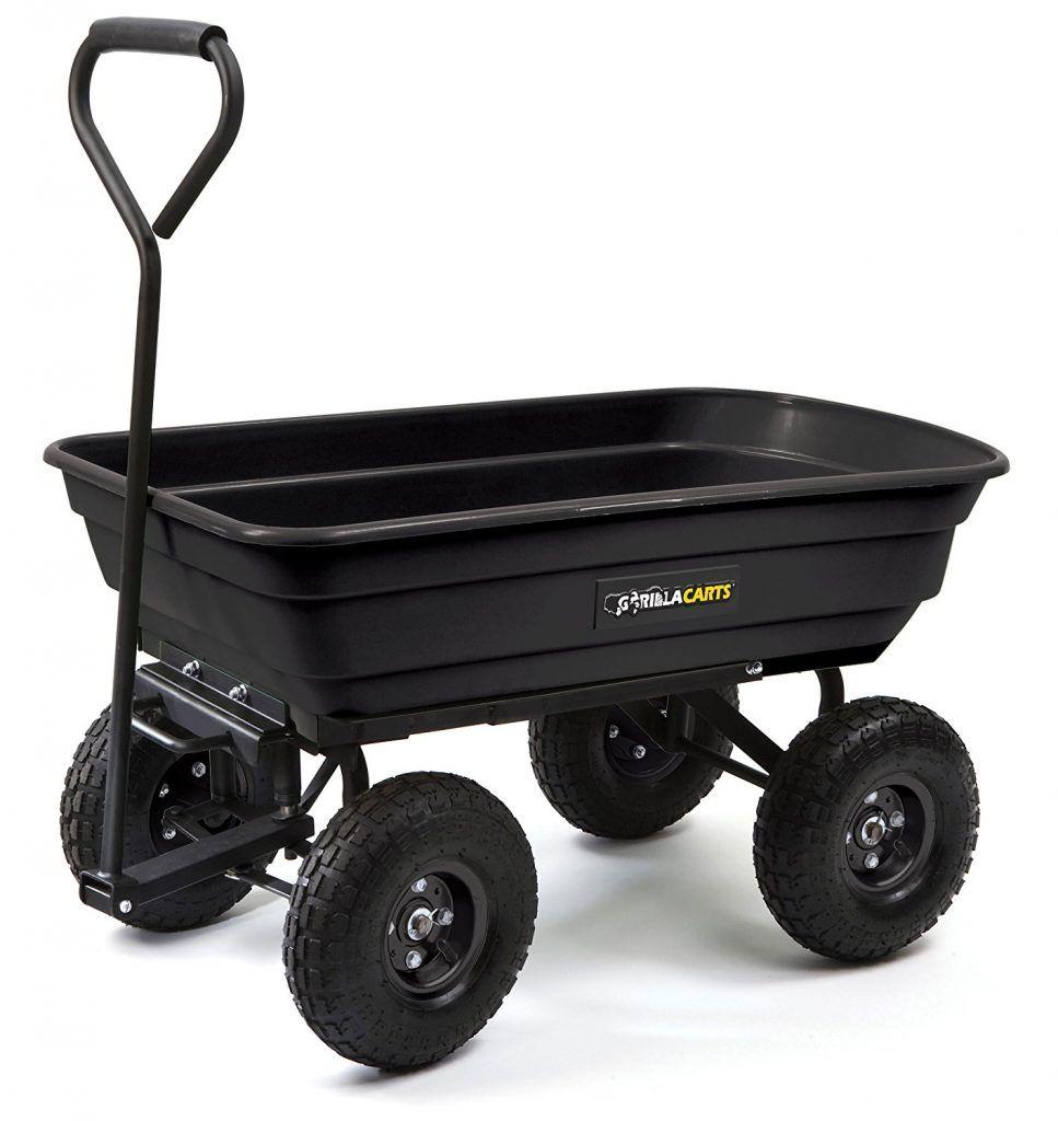 Groundwork Utility Cart Dump Cart Wheelbarrow Yard Cart