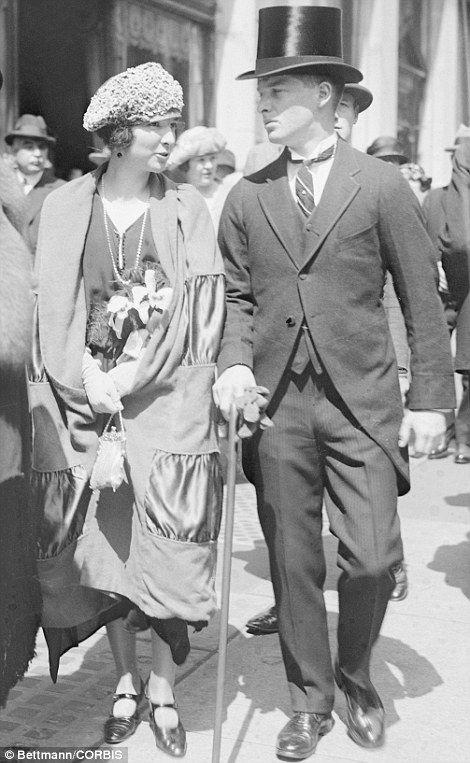 17 Apr 1922 --- Original caption: New York, New York: Easter Sunday on Fifth Avenue. Mr. A.J. and Virginia Fox.