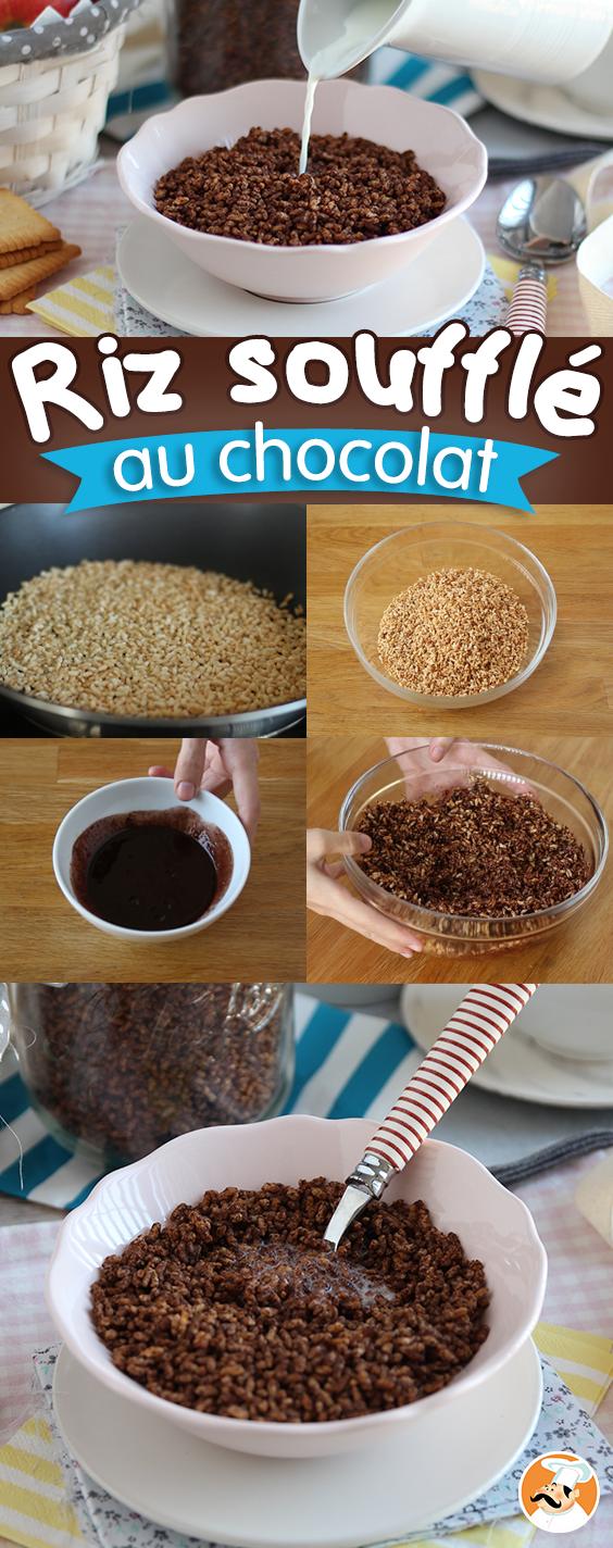 Riz soufflé au chocolat – céréales type Coco pops