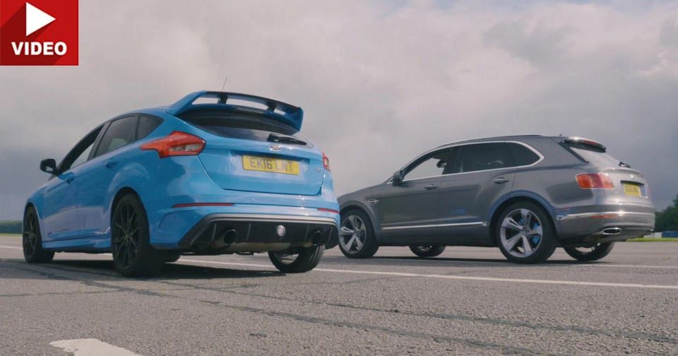 David Vs Goliath Focus Rs Takes On 608 Ps Bentley Bentayga Small Luxury Cars Focus Rs Ford Focus