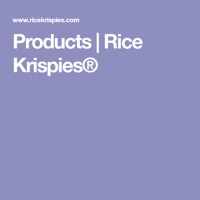 Rice Krispies, Rice Cereal, Rice