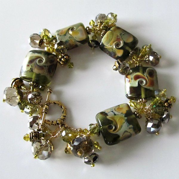 handmade beaded jewelry and lampwork jewelry designs lampwork beaded bracelet tuscan