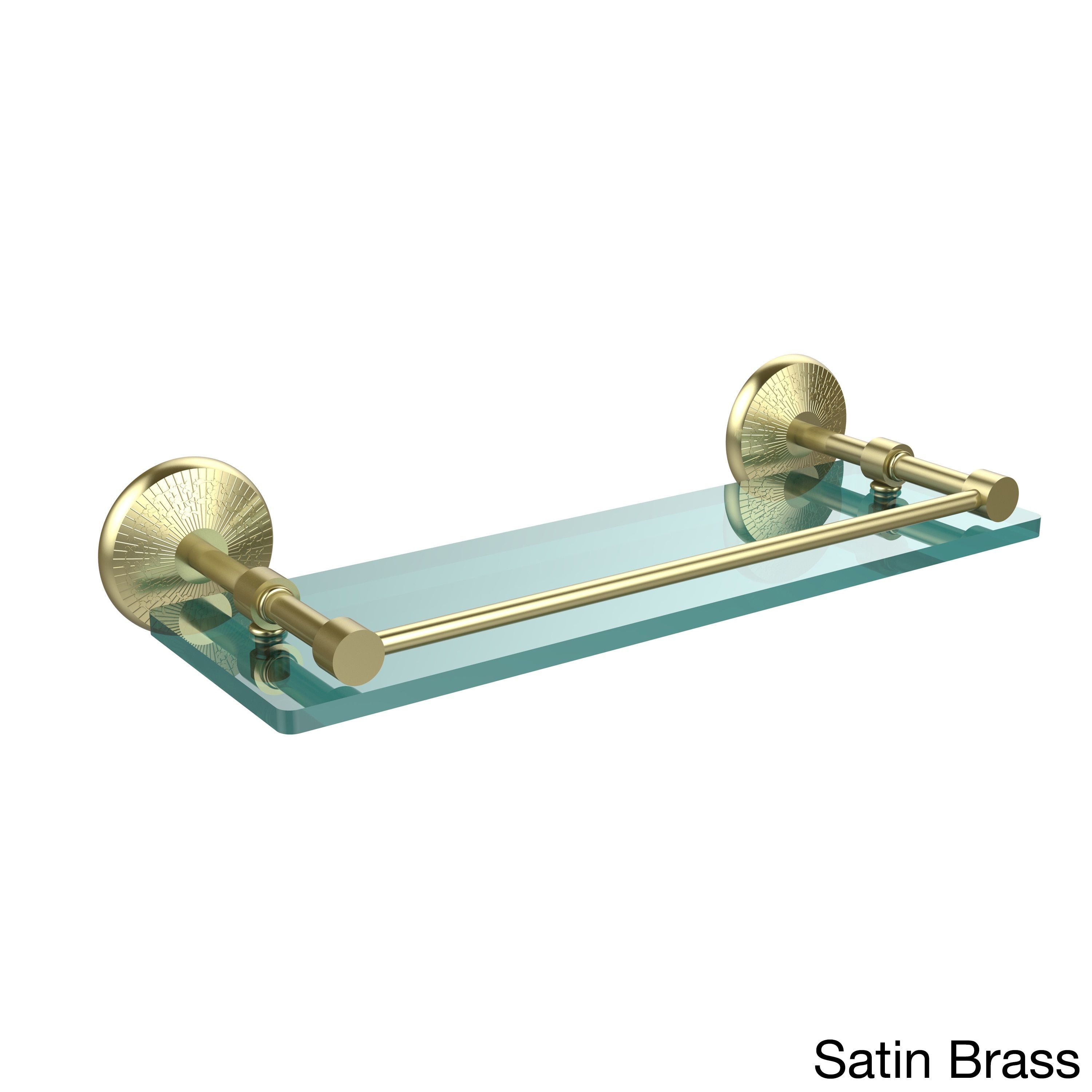 Allied Brass Monte Carlo 16-inch Tempered Glass Shelf with Gallery ...