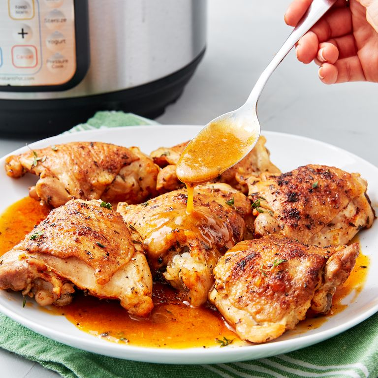 9 Healthy Chicken Thigh Recipes Even The Pickiest Eaters: Instant Pot Chicken Thighs