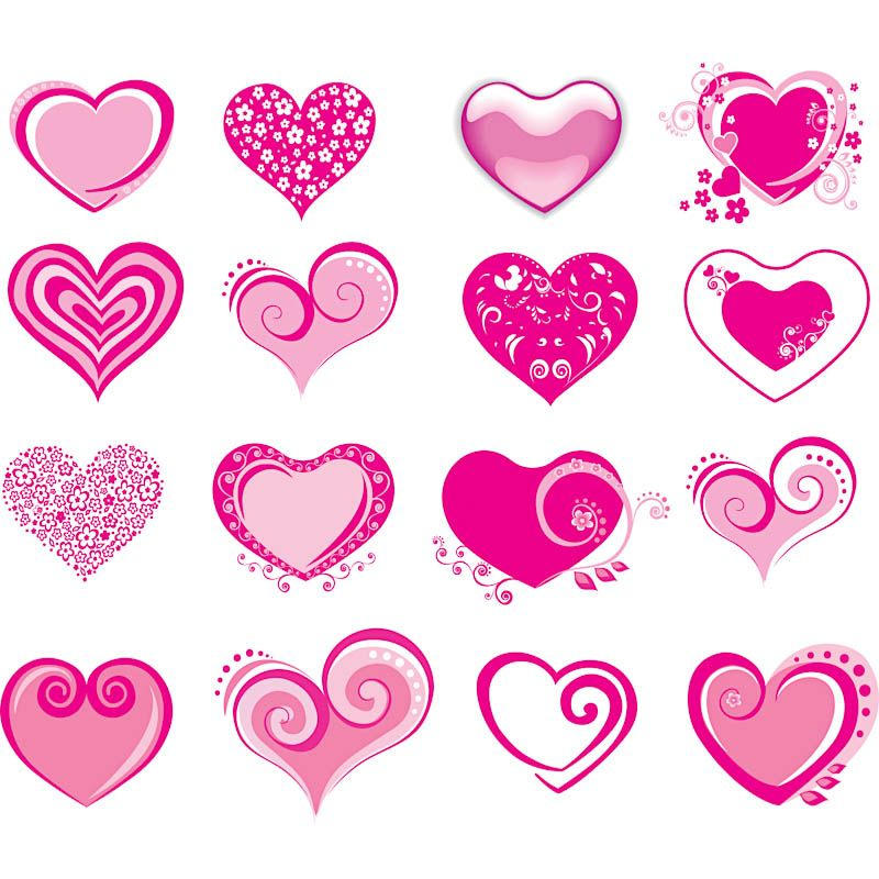 Valentine\'s Day Clip Art | valentines day hearts vector set of 16 ...