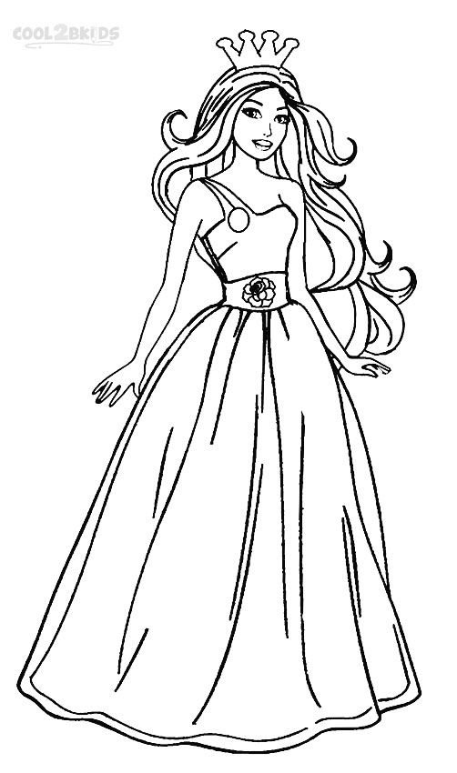Barbie Princess Coloring Pages (With images) Princess