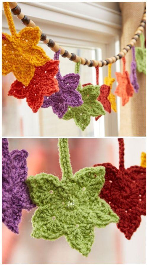 Crochet Fall Leaves Free Crochet Patterns Paid Home Decor Ideas