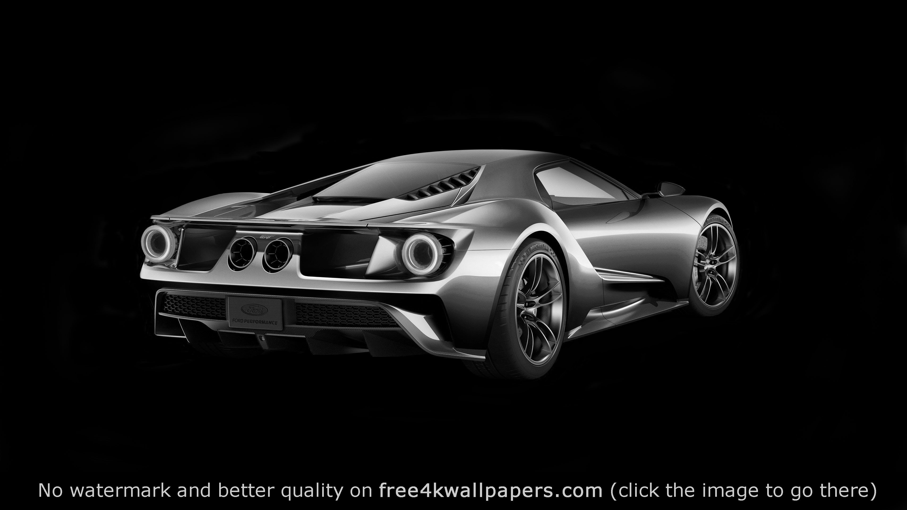 Black and White Ford GT X 2160 wallpaper