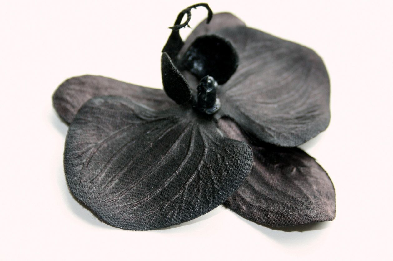 Black Flowers Black Orchid 35 Inch Size Artificial Flowers