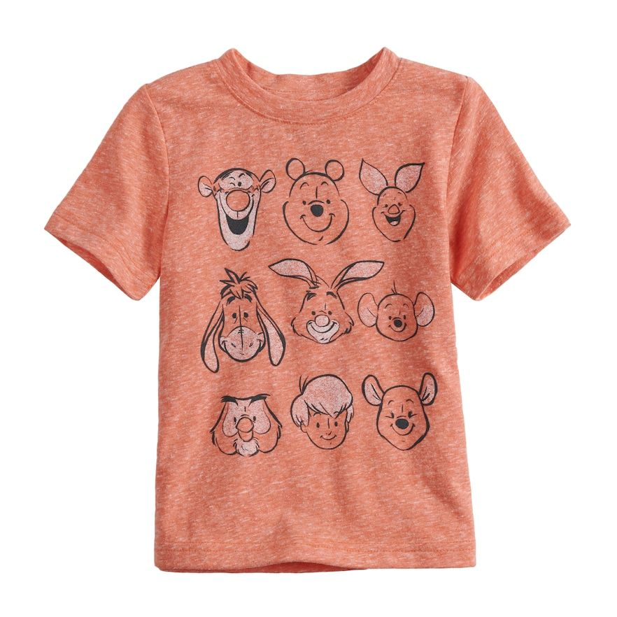 d750a224f Disney's Winnie the Pooh Toddler Boy Heathered Graphic Tee by Jumping  Beans®, Med Orange