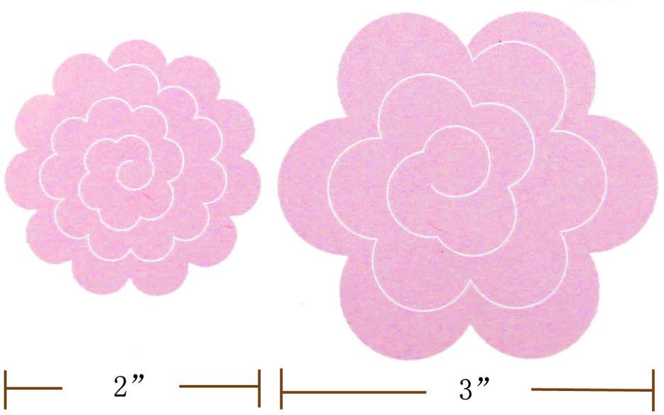 felt flower template printable template image file ) Print - flower petal template