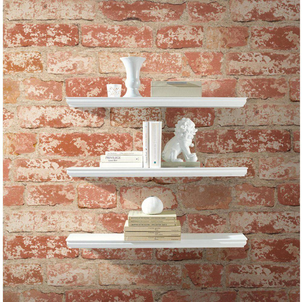 Roommates Stuccoed Red Brick Peel And Stick Wall Decor Wallpaper Walmart Com In 2020 Brick Wall Decor Brick Wallpaper Temporary Decorating