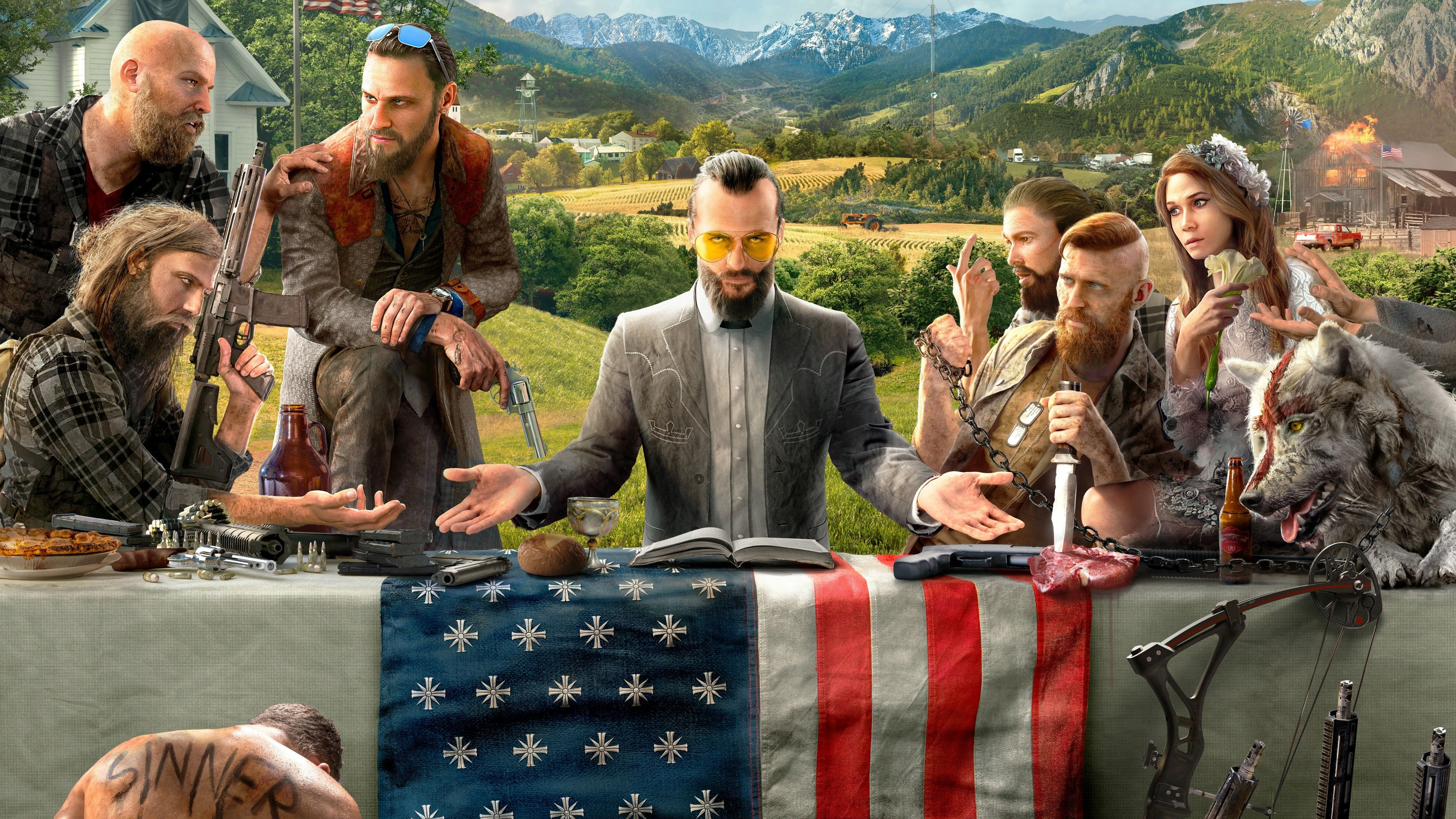 Farcry5 The Best Game Of The Year Get This Awesome 4k Wallpaper For Free If You Like The Game You Can Buy It By Click Xbox One Games Far Cry 5