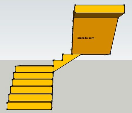 Best Front Elevation Of Double Landing U Stairway With Images 400 x 300