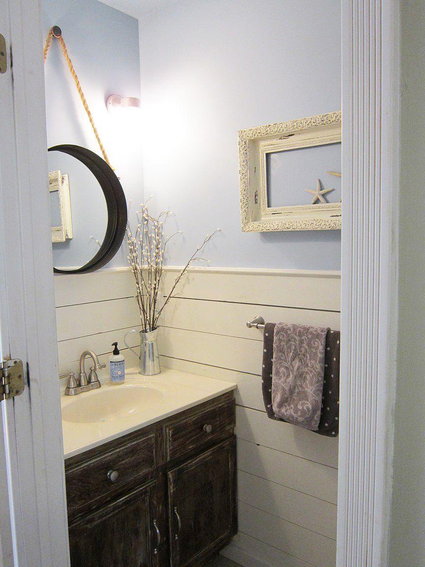 Half Bathroom Makeover - | Half baths, Bath and Walls