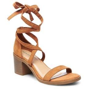 ec69a26c143 Women s Matilda Lace Up Heeled Quarter Strap Sandals - Merona™   Target