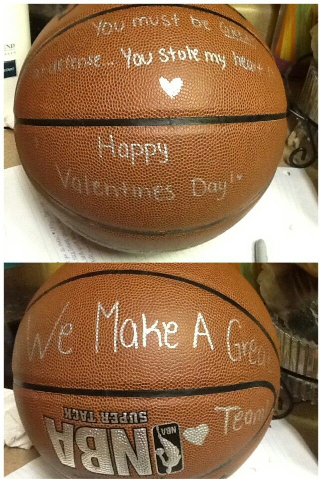 My Boyfriend Loves Basketball So For Valentine S Day I Made Him This Simple Valentines Gifts For Boyfriend Cute Valentines Day Ideas Diy Gifts For Boyfriend