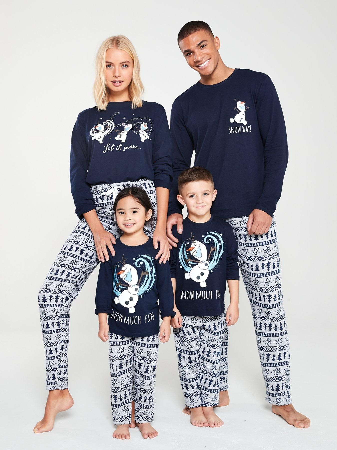 Womens Family Christmas Pyjamas Navy in 2020 Family
