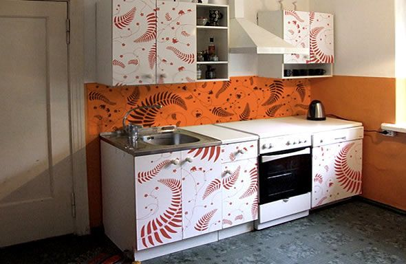 Kitchen Cabinets Need A Makeover Why Not Some Vinyl Graphics Kitchen Decor Modern Cheap Kitchen Decor Kitchen Redesign