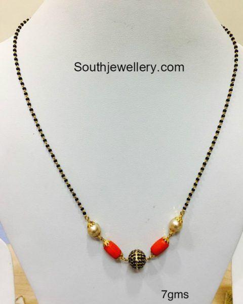 7 Grams Black Beads Chain Mangalsutra Black Beaded Jewelry Black Beads Mangalsutra Design Black Beads