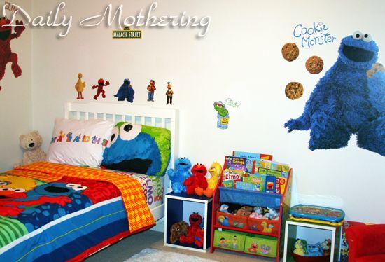 Sesame Street Kids Room Decor Baby Bedroom Furniture Baby Room