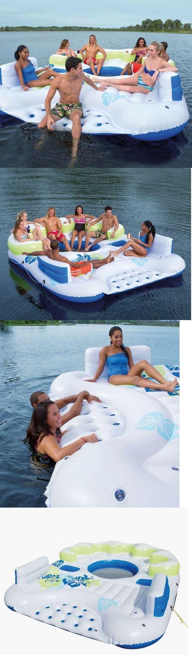 how to build a floating swim platform