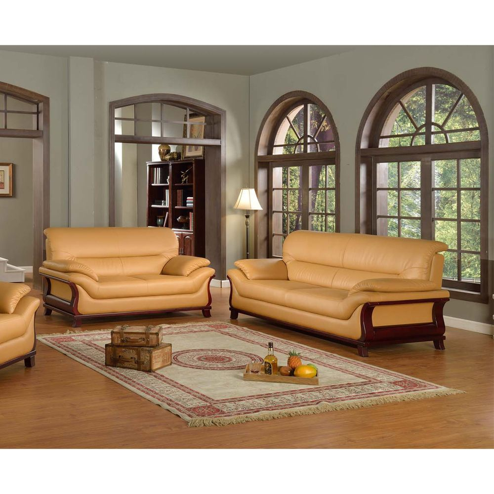 kalina bonded leather 2 piece modern set overstock com shopping
