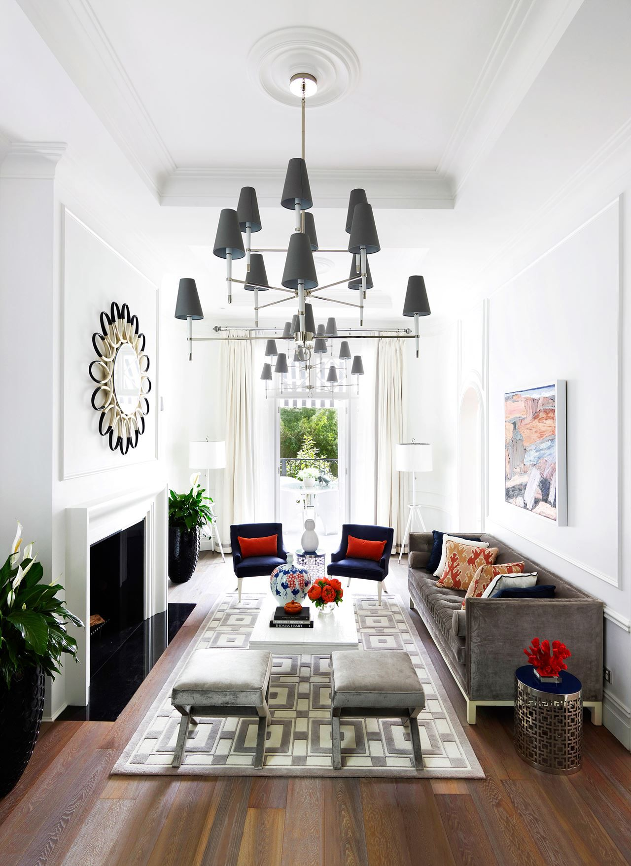 Design Narrow Living Room: Emma And Toni's Luxurious Regency-Style Home