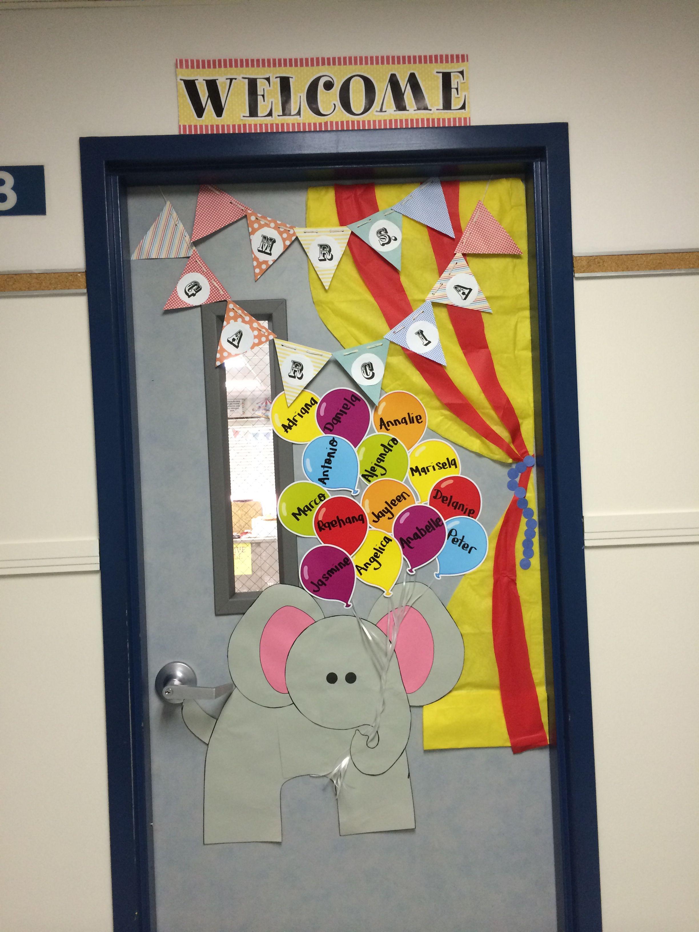 Ppg Innovative Classroom Grants ~ Circus themed classroom door decorations