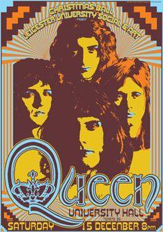 Mercury December Queen Band Poster Art Poster Gig Poster Music Poster Queen Freddie Mercury Concert Poster Art Concert Posters Vintage Concert Posters