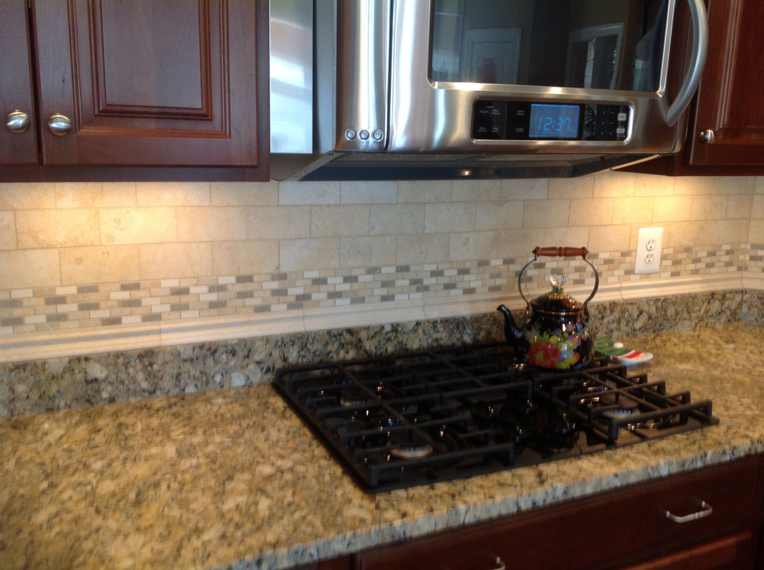 Here Is A Backsplash To Go With Juperano Giallo Granite