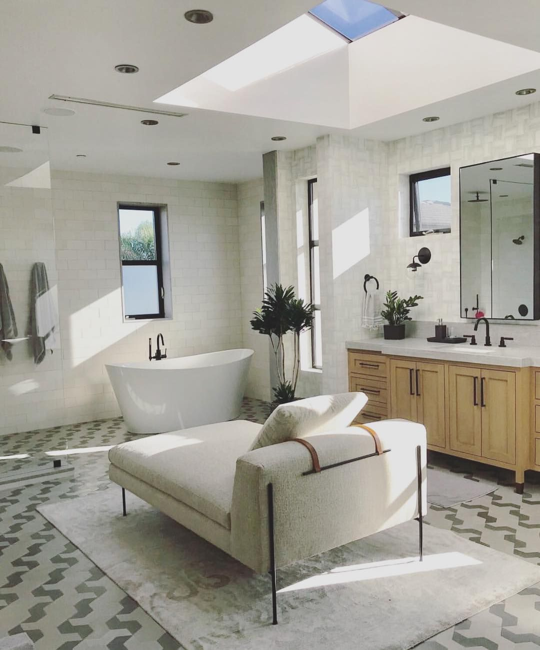 Dreamy bathroom design by @brookewagnerdesign featuring our Croft