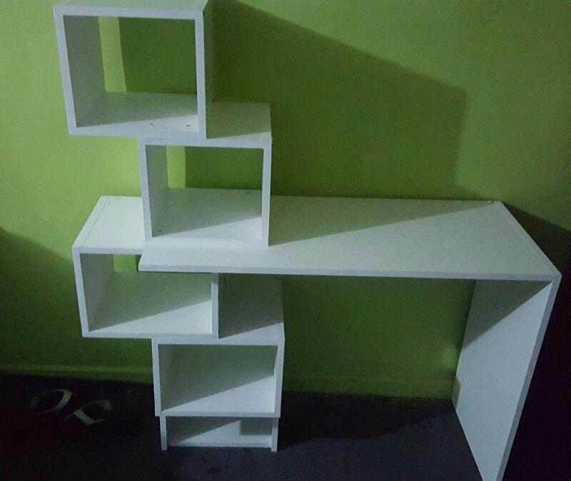 Escritorio ni o melamina blanca muebles en melamina for Donde aprender hacer muebles melamina