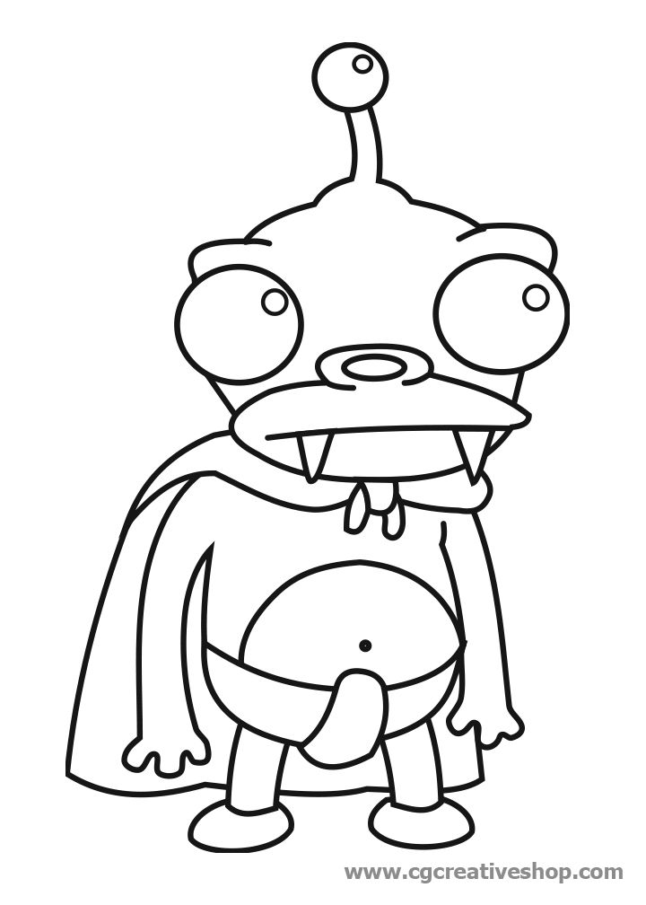 futurama coloring pages Futurama Coloring Pages Nibbler | coloring pages | Pinterest  futurama coloring pages