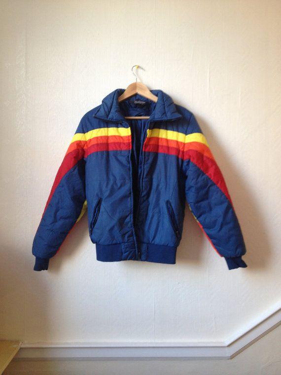 Rainbow Flurry Ski Ski 70s Winter Jacket Xs S Ski Jacket Women Vintage Ski Jacket Ski Jacket