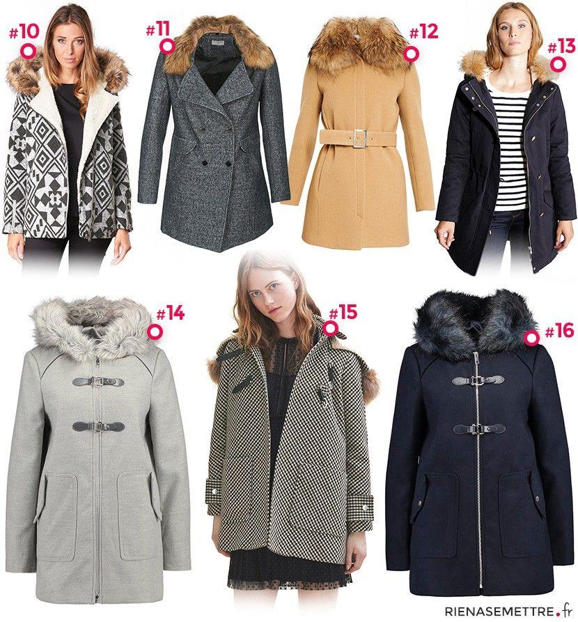 manteau court femme capuche hiver 2018