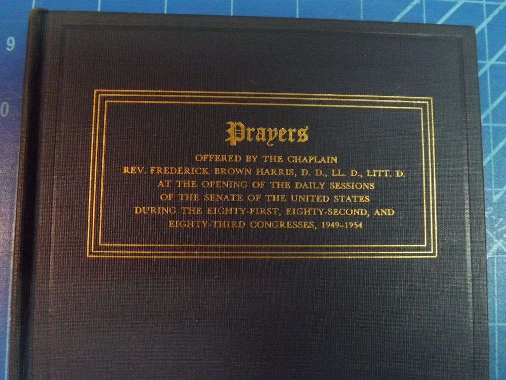 Prayers offered by the chaplain rev frederick brown