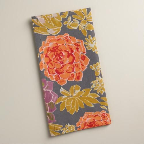 One of my favorite discoveries at WorldMarket.com: Succulent Napkins, Set of 4