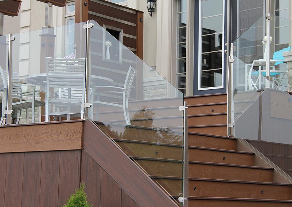 InvisiPosts InvisiRail Glass railing deck, Glass porch